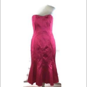 David Meister 10 Satin Strapless Mermaid Dress NEW